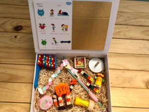 worbles wooden unicorn gift box