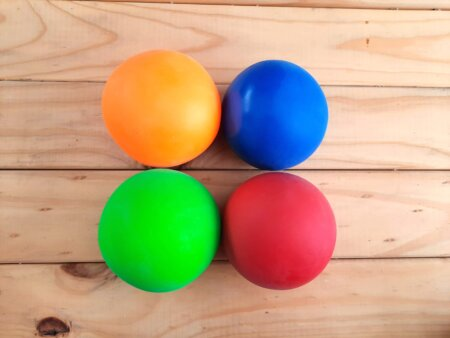 Large mouldable clay stress ball group
