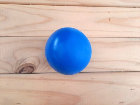 Large mouldable clay stress ball blue
