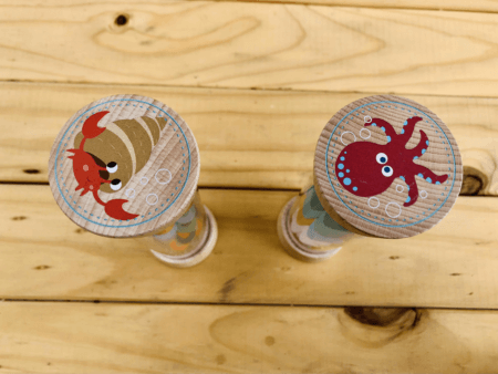 wooden rainmaker rattle toddler toy tops