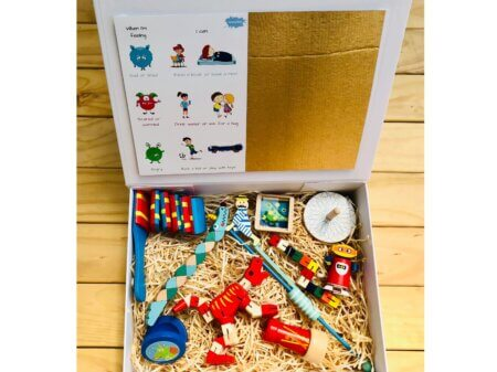 wooden wonders gift box red
