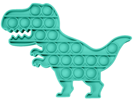 Push and pop dino teal