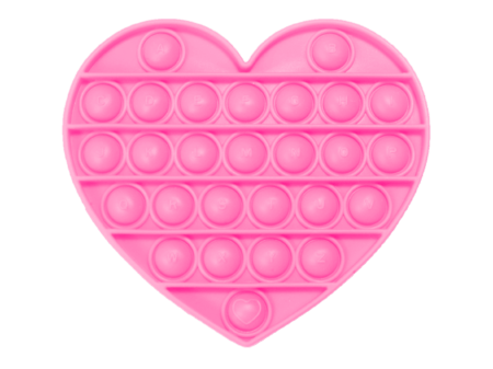Push and pop heart pink