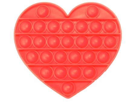 Push and pop heart red