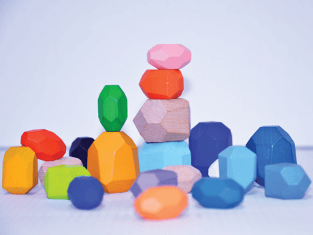 ER stacking stones colours early childhood