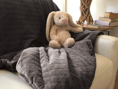 weighted blanket with minky cover double