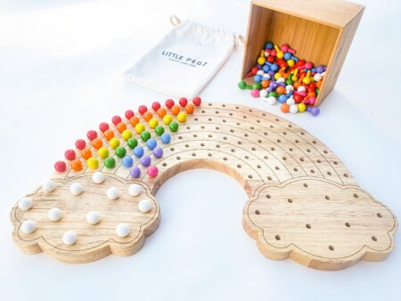 Little Pegz Natural Rainbow with pegs