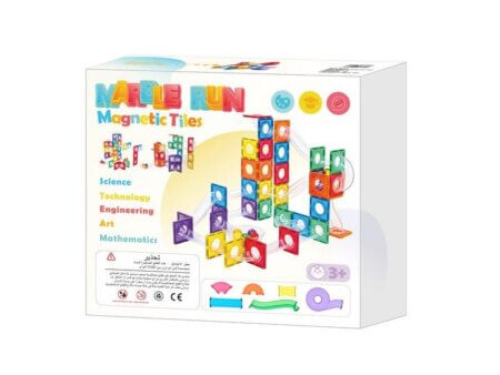 Marble run magnetic tiles in box