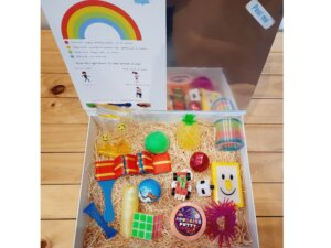 Silkys gift box of fidget and sensory toys with mirror