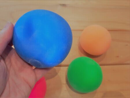 Mouldable Clay Stress Ball blue